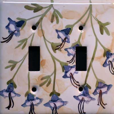 morning glory hand painted switch plate cover
