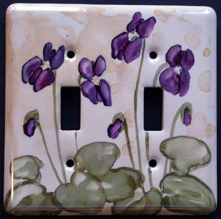 left ladyslipper switch plate - Decorative Switch Plates
